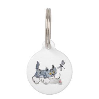 Tengo solamente ojos para usted - gatito a la libé placas de mascota