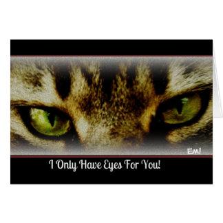 """""""Tengo solamente ojos para usted"""" toda la tarjeta"""