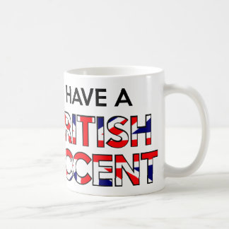 Tengo un acento británico taza de café