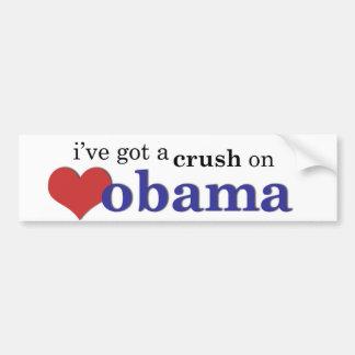 Tengo un agolpamiento en Obama Pegatina Para Auto