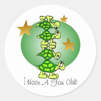 Tengo un club de fans pegatina redonda