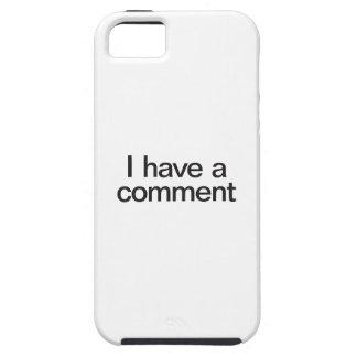 tengo un comentario iPhone 5 carcasa