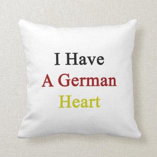 Tengo un corazón alemán almohada