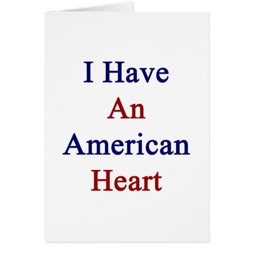 Tengo un corazón americano tarjeta pequeña