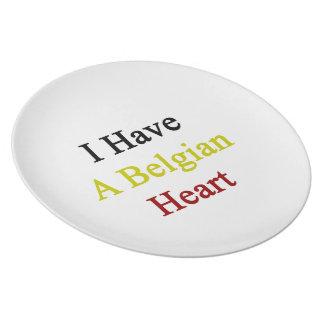 Tengo un corazón belga platos