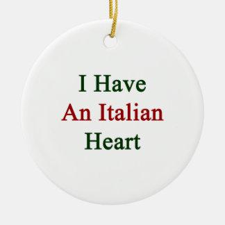 Tengo un corazón italiano ornamentos para reyes magos