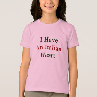 Tengo un corazón italiano playera