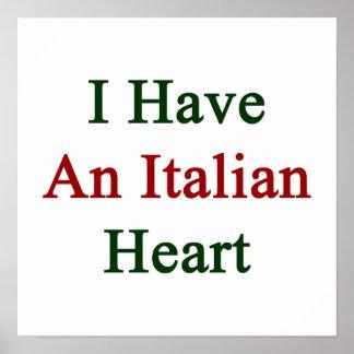 Tengo un corazón italiano póster