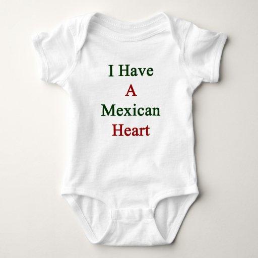 Tengo un corazón mexicano remeras
