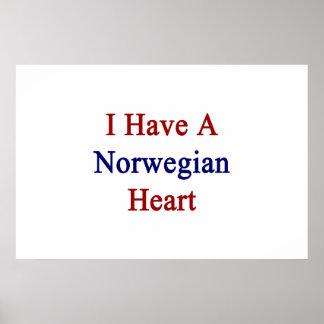 Tengo un corazón noruego póster