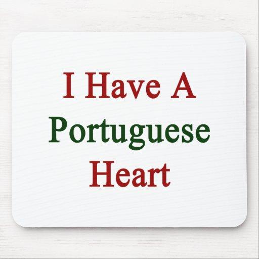 Tengo un corazón portugués mousepads