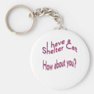 Tengo un gato del refugio llavero redondo tipo pin