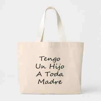 Tengo Un Hijo A Toda Madre Jumbo Tote Bag