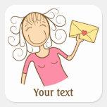 """Tengo un mensaje para usted"" pegatina"