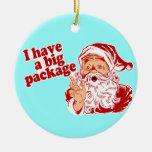 Tengo un paquete grande Santa Ornamento De Reyes Magos