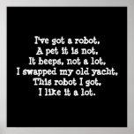Tengo un robot. Poesía Impresiones