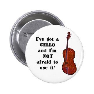 Tengo un violoncelo pin redondo de 2 pulgadas