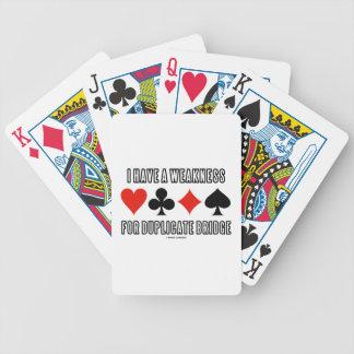 Tengo una debilidad para el puente duplicado barajas de cartas
