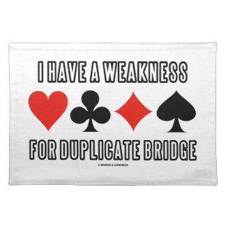 Tengo una debilidad para el puente duplicado manteles