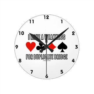 Tengo una debilidad para el puente duplicado reloj redondo mediano