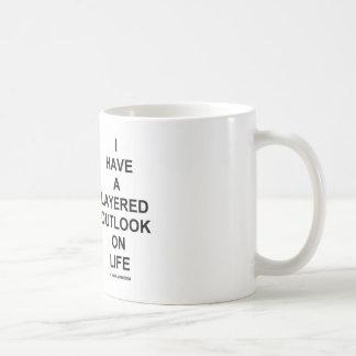 Tengo una perspectiva acodada el la vida (el humor taza básica blanca