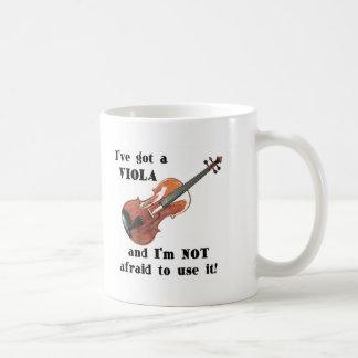 Tengo una viola taza de café