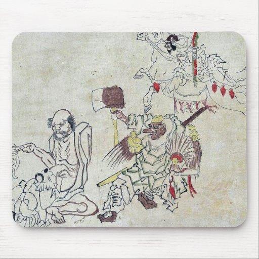 Tengu and miscellany Ukiyoe Mouse Pads