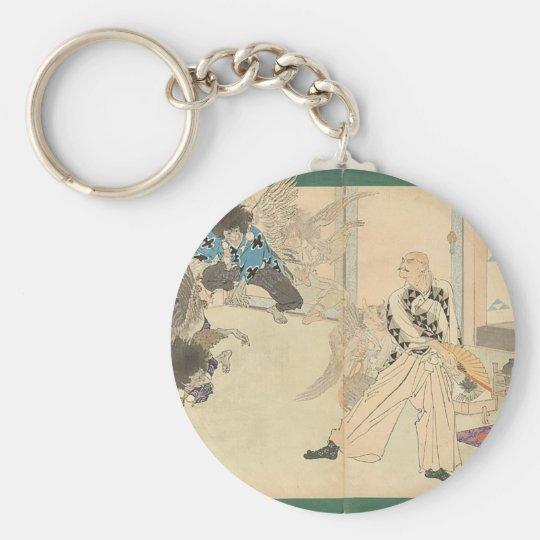 Tengu Dance circa 1898 Keychain