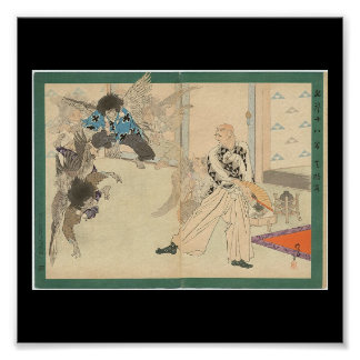 Tengu Dance circa 1898 Poster