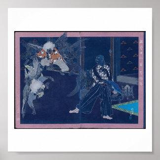 Tengu Dance circa 1898 (with Modified Colors) Poster