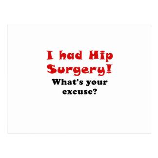 Tenía cirugía de la cadera cuál es su excusa tarjetas postales