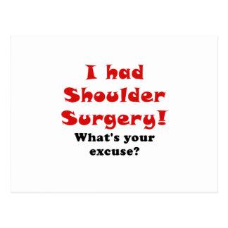 Tenía cirugía del hombro cuál es su excusa postales