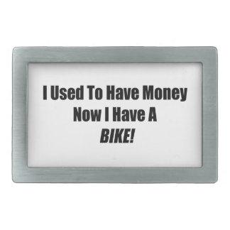 Tenía dinero ahora que tengo una bici hebillas de cinturón rectangulares