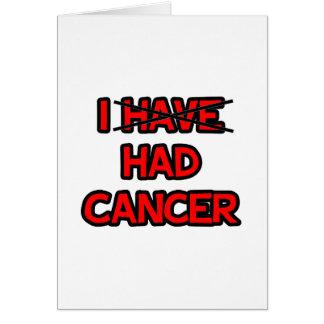 Tenía el cáncer felicitación