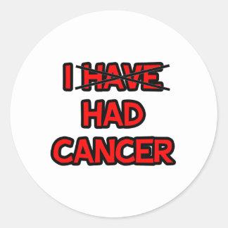 Tenía el cáncer pegatina redonda