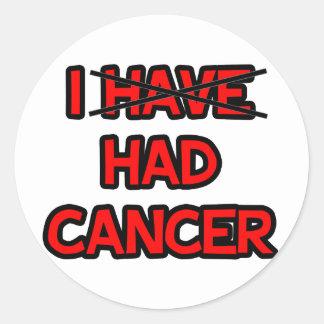 Tenía el cáncer pegatinas redondas