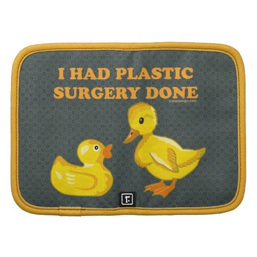 Tenía patos de la cirugía plástica planificador