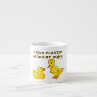 Tenía patos de la cirugía plástica taza espresso