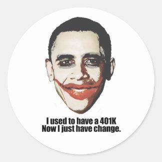 Tenía un 401K, ahora yo apenas tengo cambio Etiqueta Redonda