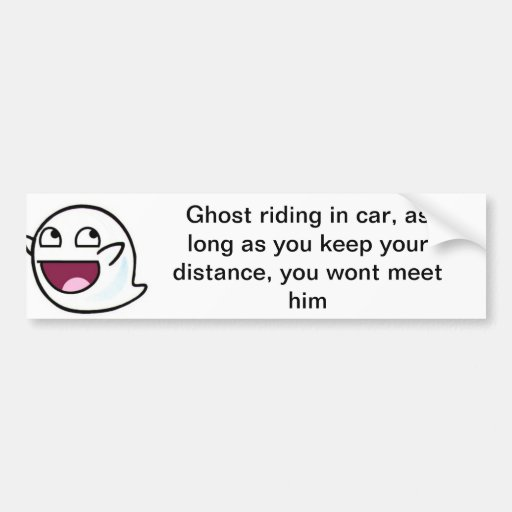 Tenía un amigo que fantasma librar etiqueta de parachoque