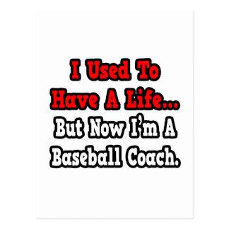 Tenía un entrenador de béisbol de la vida… tarjetas postales