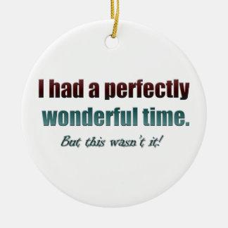 Tenía un rato perfectamente maravilloso pero esto adorno navideño redondo de cerámica