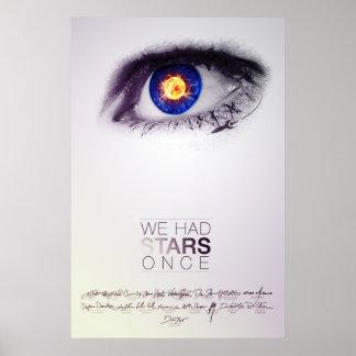 Teníamos estrellas una vez (el poster firmado)
