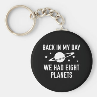 Teníamos ocho planetas llavero redondo tipo pin