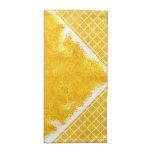 Teñido anudado amarillo-naranja servilletas de papel