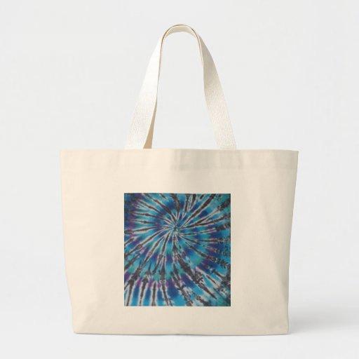 Teñido anudado azul fresco del espiral del remolin bolsas