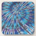 Teñido anudado azul fresco del espiral del remolin posavasos de bebidas
