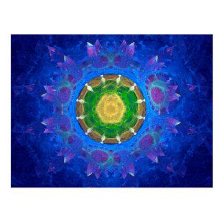 Teñido anudado azulverde postales