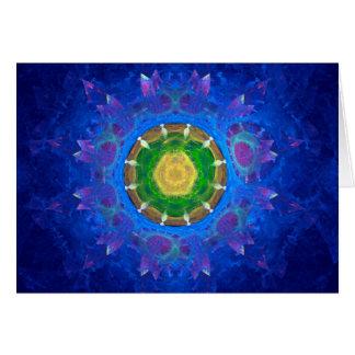 Teñido anudado azulverde tarjeta de felicitación