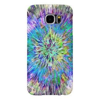 Teñido anudado colorido abstracto fundas samsung galaxy s6